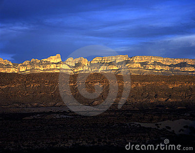 Sierra Del Carmen At Sunset Stock Photography - Image: 687802