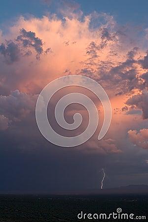 Sierrita Thundershower and Lightning