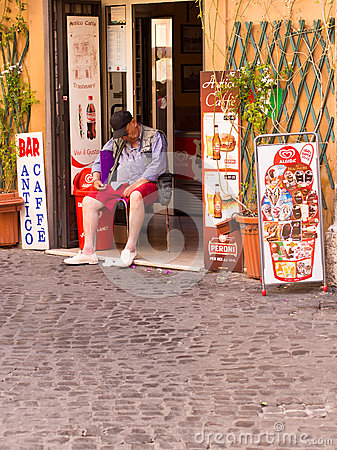 Siesta in Rome Editorial Stock Photo