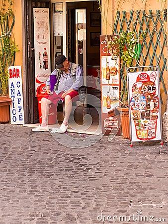 Siesta in Rome Editorial Stock Photo