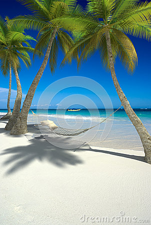 Siesta on tropical beach