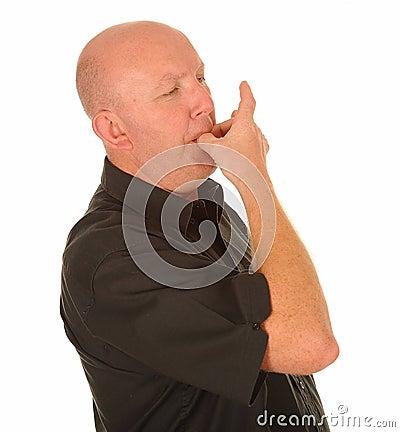 Siffler chauve d homme