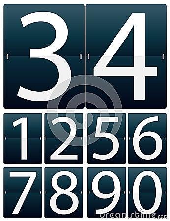 Siffror som bläddrar seten