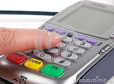 πατώντας τερματικό πληρωμή&sig