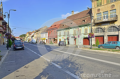 Sighisoara citadel center Editorial Stock Photo