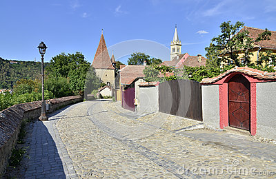 Sighisoara tower street