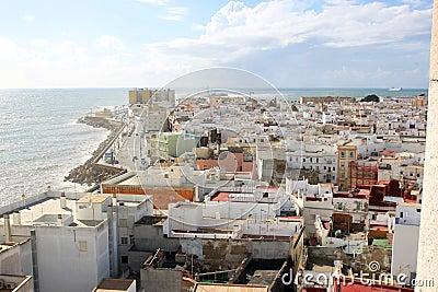 Sight at the Atlantic ocean near Cadiz , Spain