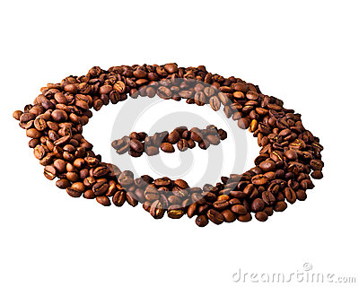 Sight  minus  in circle from Coffee beans