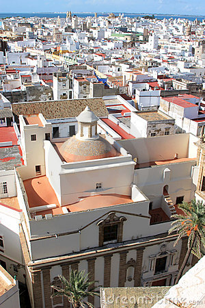 Sight over Cadiz from the cathedral, Andalusia