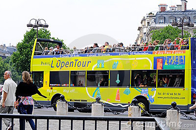 Sight seeing bus tour paris Editorial Stock Image