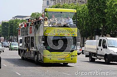 Sight seeing bus tour paris Editorial Photo