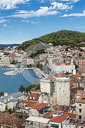 Free Sights Of Croatia. Beautiful City Split. Croatian Paradise. Stock Photo - 83839940