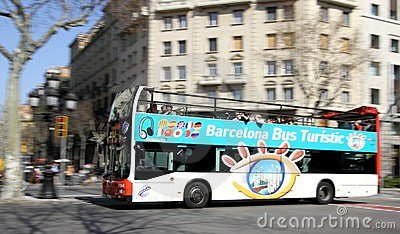 Sightseeing Bus in Barcelona, Spain Editorial Stock Image