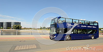 Sightseeing bus in Duisburg Editorial Photo