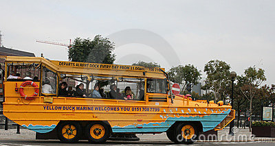 Sightseeing Bus in Liverpool Editorial Image