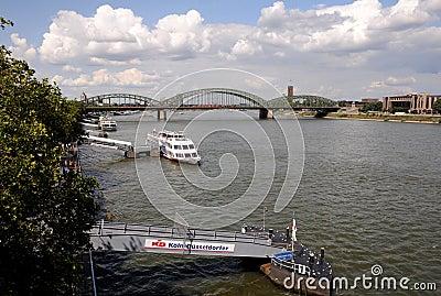 Sightseeing Cruise on the Rhine Editorial Stock Photo