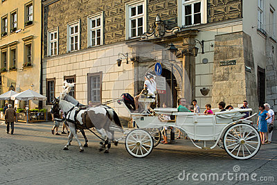 Sightseeing Krakow. Editorial Stock Photo