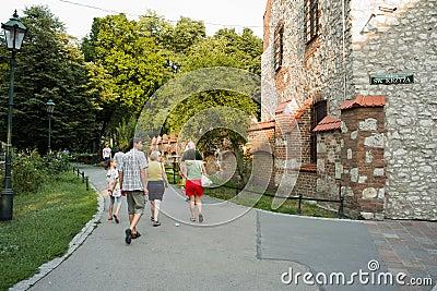 Sightseeing Krakow. Editorial Image