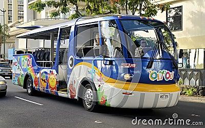 Sightseeing tour bus Editorial Stock Photo
