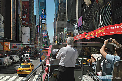 Sightseeing Tour Bus New York USA Editorial Photography