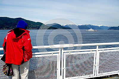 BC ferries pleasure summer Editorial Image
