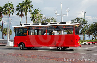 Sightseeing trolley in Florida