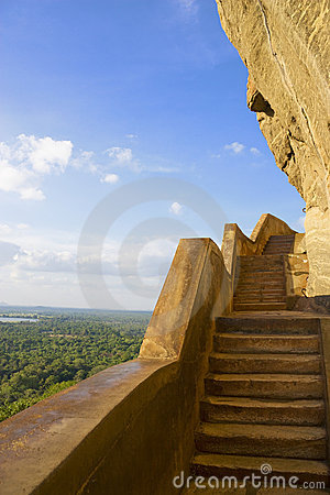 Sigiriya Mirror Wall and View, Sri Lanka