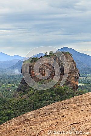 Free Sigiriya Rock Fortress, UNESCO World Heritage Site, Seen From Pidurangala Rock, Sri Lanka, Royalty Free Stock Photography - 124158087