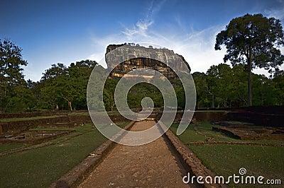 Sigiriya rock in Sri Lanka