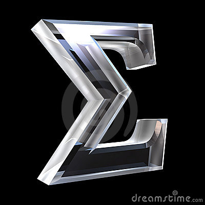 Free Sigma Symbol In Glass (3d) Stock Image - 5529541