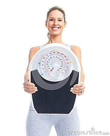 γυναίκα βάρους κλίμακα&sigmaf
