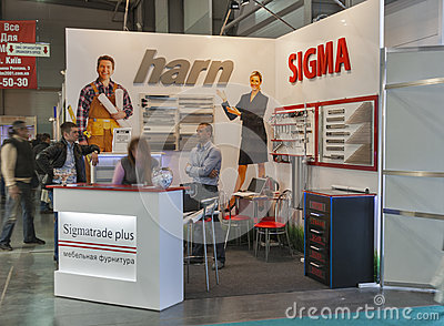 Sigmatrade furniture company booth Editorial Photography