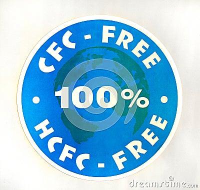 Sign 100  CFC, HCFC-free