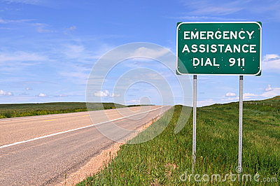 Sign for 911 number
