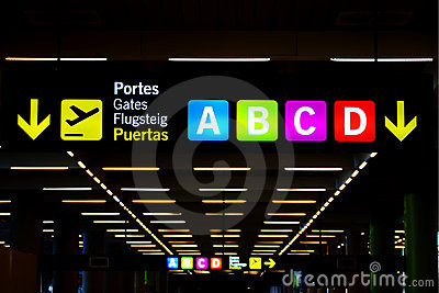 Sign at airport