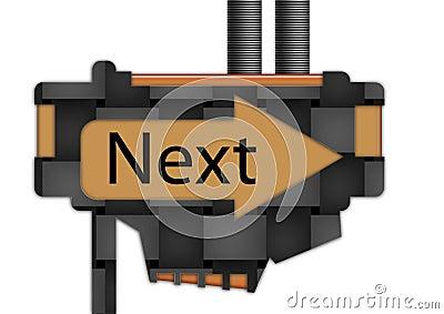 Sign - arrow - Next