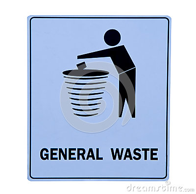 The Sign Of Bin For General Waste Royalty Free Stock Photo - Image ...