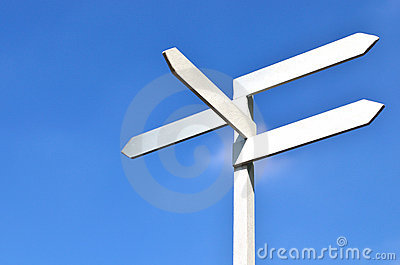 Sign and blue sky