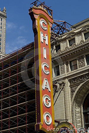 Sign of Chicago Theater