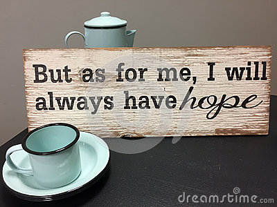 Hope sign for a coffee bar