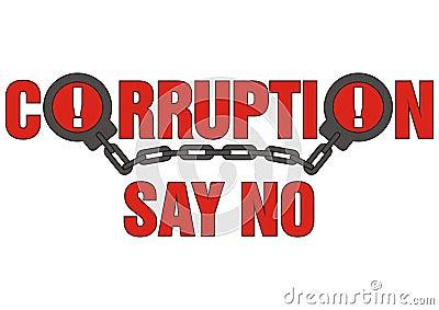 Sign corruption say no