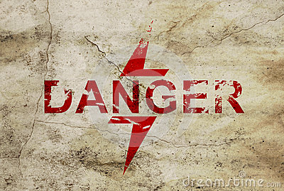 Sign for danger area