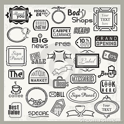 sign designs and banner headers set royalty free stock image image
