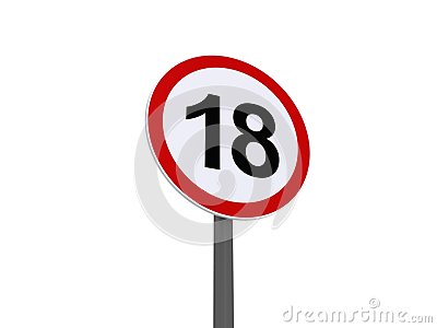 Sign for eighteenth birthday