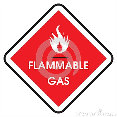 Free Sign Flammable Gas Royalty Free Stock Images - 110021399
