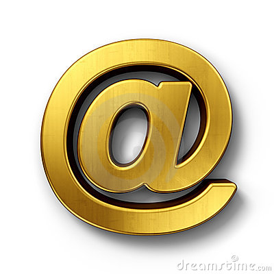 At Sign In Gold Stock Images - Image: 17073524