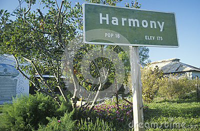 A sign for Harmony
