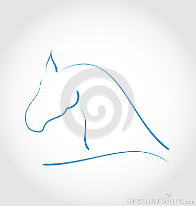 Sign horse  on white background