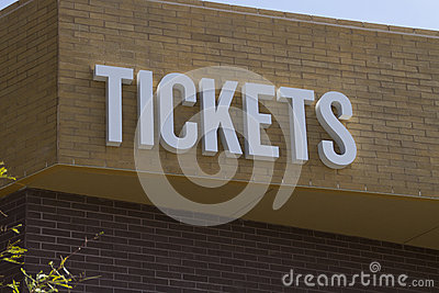 Entertainment Event Admission Tickets Sign