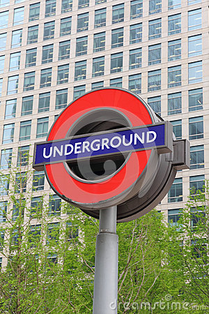 Sign of London Underground Editorial Photo